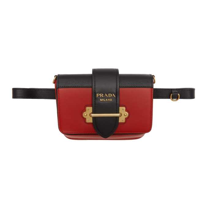 Prada Red Cahier Belt Bag