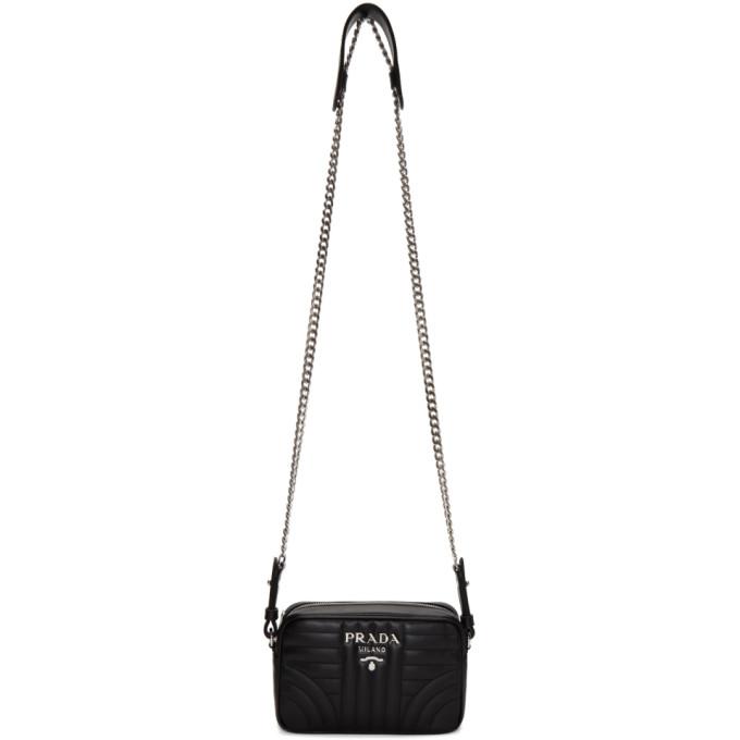 Prada Black Quilted Diagramme Bag