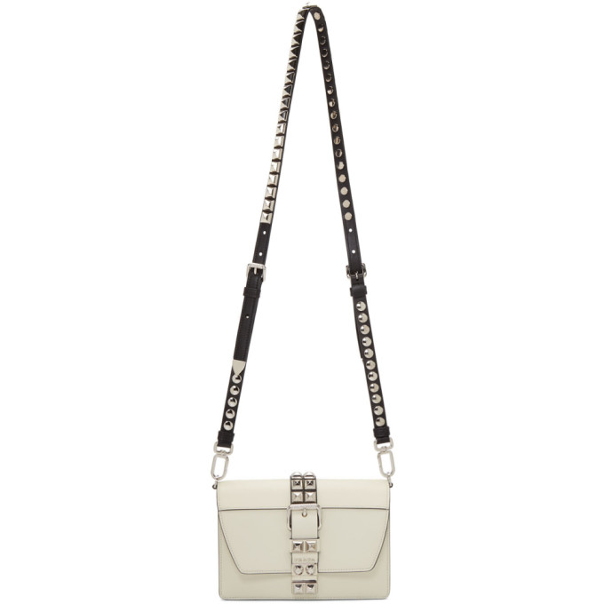 Prada White Small Electra Studded Bag