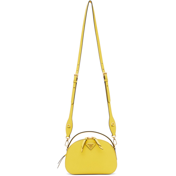 Prada Yellow Saffiano Odette Bag