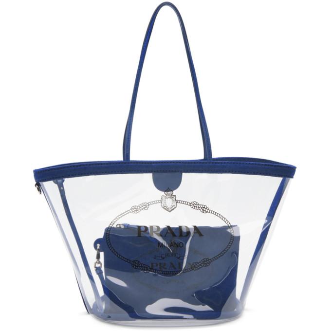 Prada Transparent & Blue PVC Tote