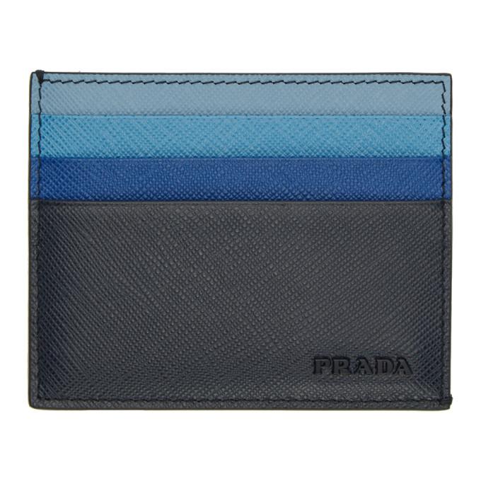 Prada マルチカラー サフィアーノ カード ホルダー