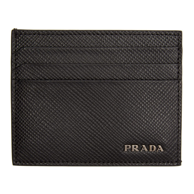 Prada ブラック ロゴ カード ホルダー