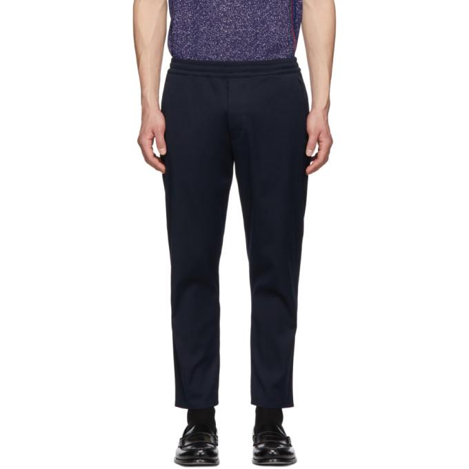 Prada Navy Elastic Waist Jeans