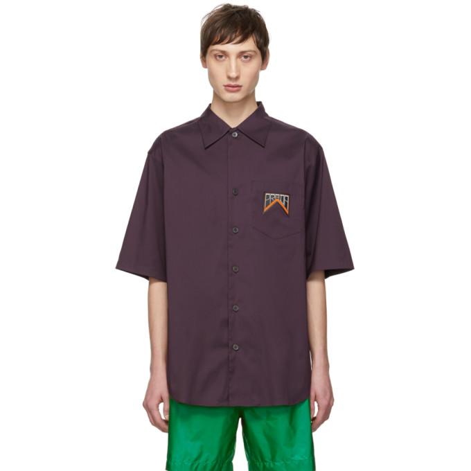 Prada パープル ストライプ シャツ