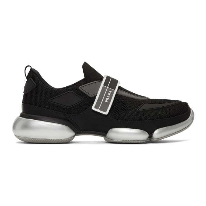 Prada Black & Silver Cloudbust Sneakers