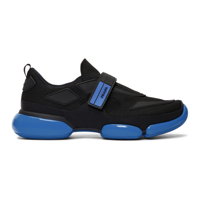 Prada Black & Blue Cloudbust Sneakers
