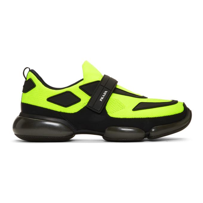 Prada Yellow & Black Cloudbust Sneakers