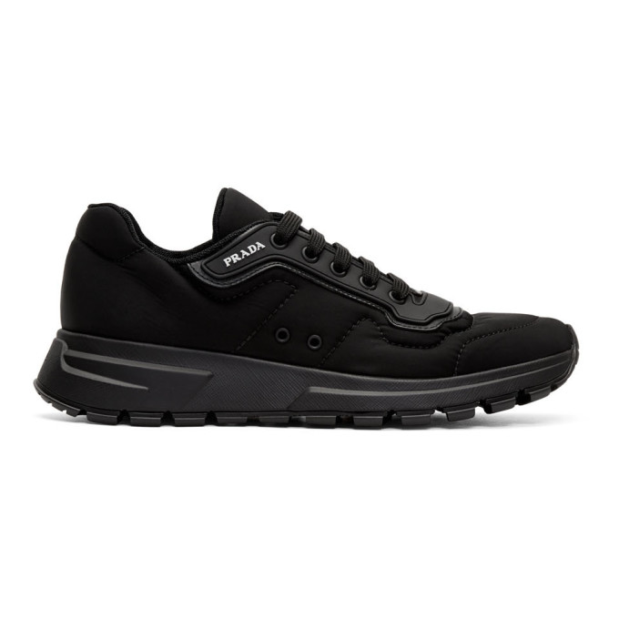 Prada Black Gabardine Soft Sneakers