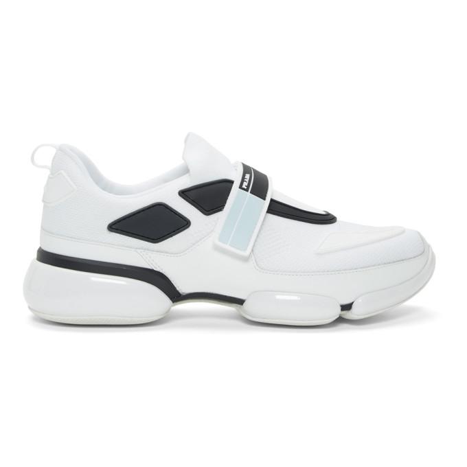 Prada White Cloudbust Sneakers