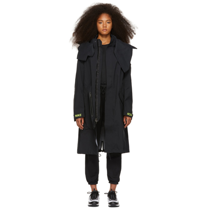 Image of NikeLab Black Errolson Hugh Edition Hooded Coat