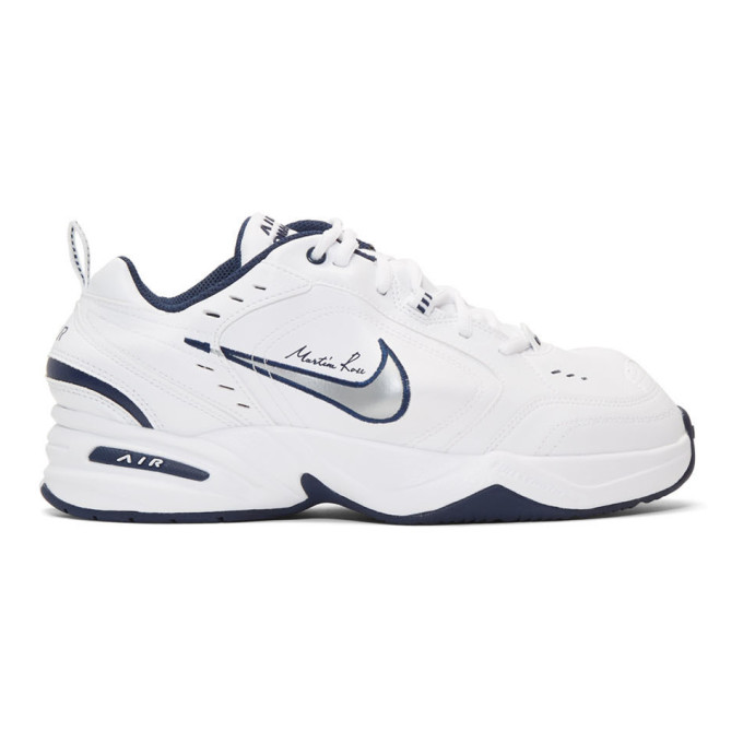 NikeLab White Martine Rose Edition Air Monarch IV Sneakers