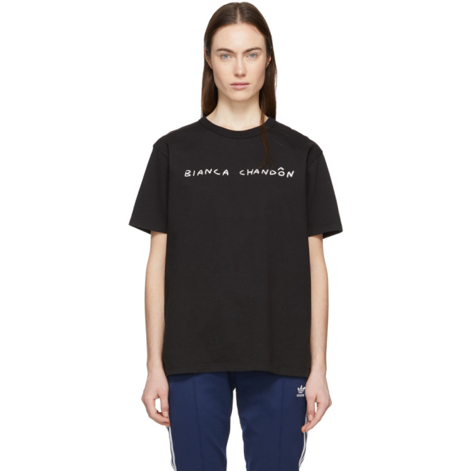 Image of Bianca Chandon Black Handwritten Logotype T-Shirt