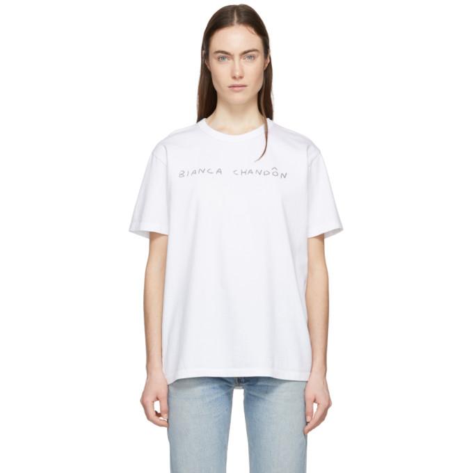 Bianca Chandon T-shirt blanc Handwritten Logotype