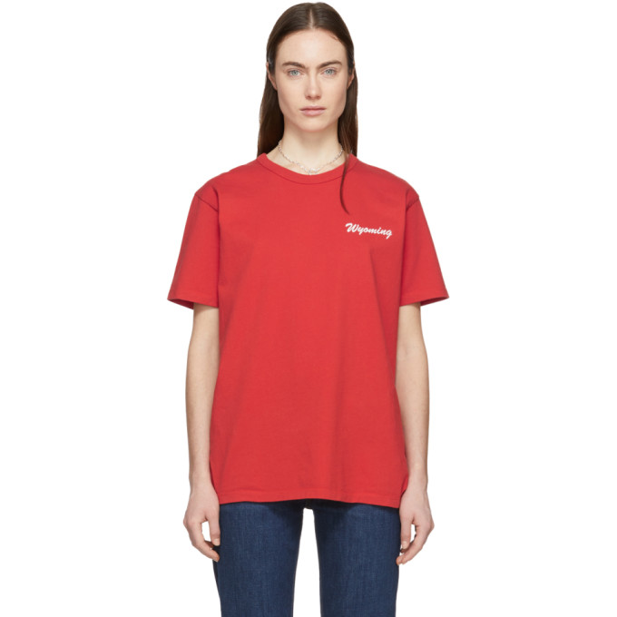 Bianca Chandon T-shirt rouge Wyoming