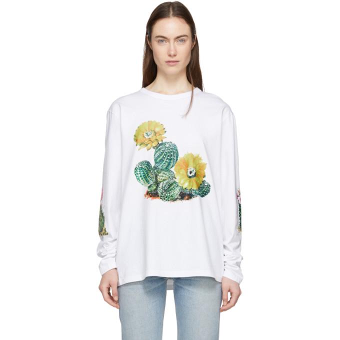 Bianca Chandon White Cactus Long Sleeve T-Shirt