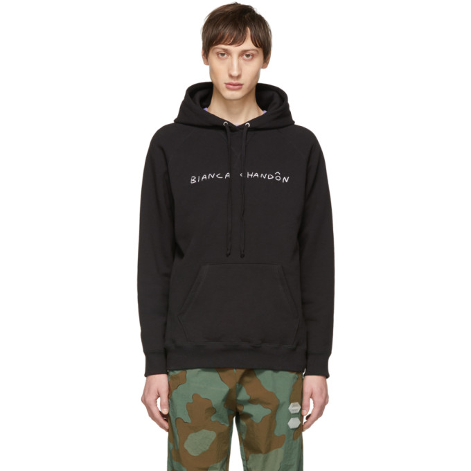 Image of Bianca Chandon Black Handwritten Logotype Hoodie