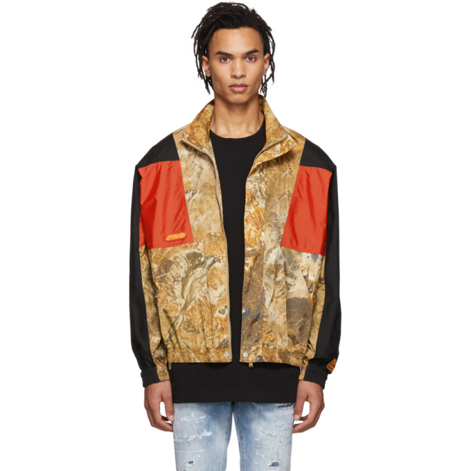 Heron Preston Camouflage Nylon Track Jacket In 8888 Multic