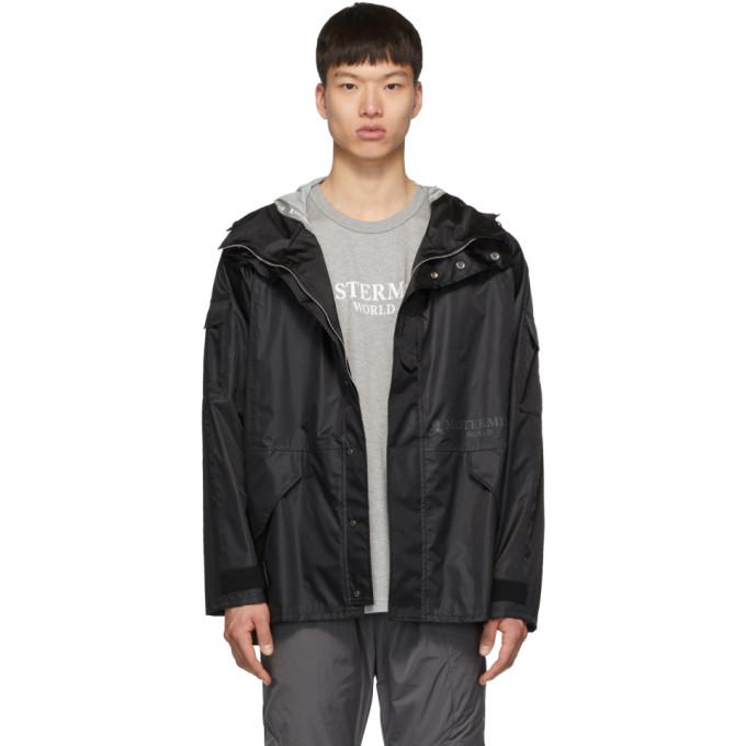 Mastermind Japan Coats MASTERMIND WORLD BLACK HOODED COACH COAT