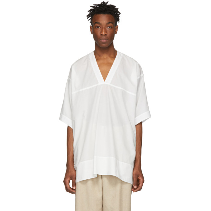 Jan-Jan Van Essche Chemise blanc casse Tunic