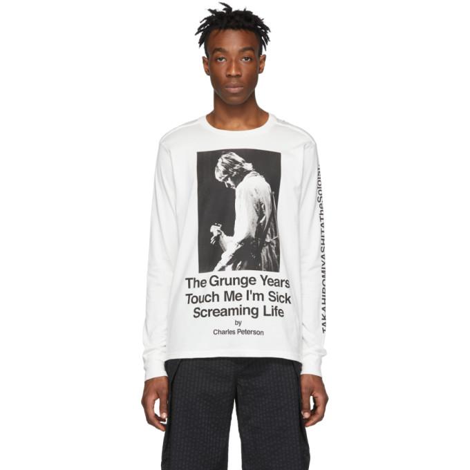 TAKAHIROMIYASHITA TheSoloist. T-shirt a manches longues blanc Kurt edition Charles Peterson