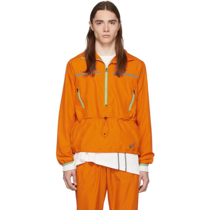 Kiko Kostadinov Blouson tisse orange edition Asics