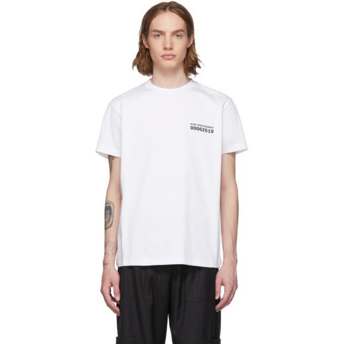 Kiko Kostadinov ホワイト 0006 グラフィック T シャツ