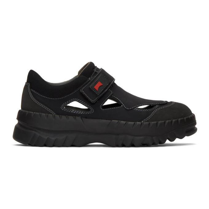 Kiko Kostadinov Sneakers KIKO KOSTADINOV BLACK CAMPER EDITION TEIX STRAP SNEAKERS