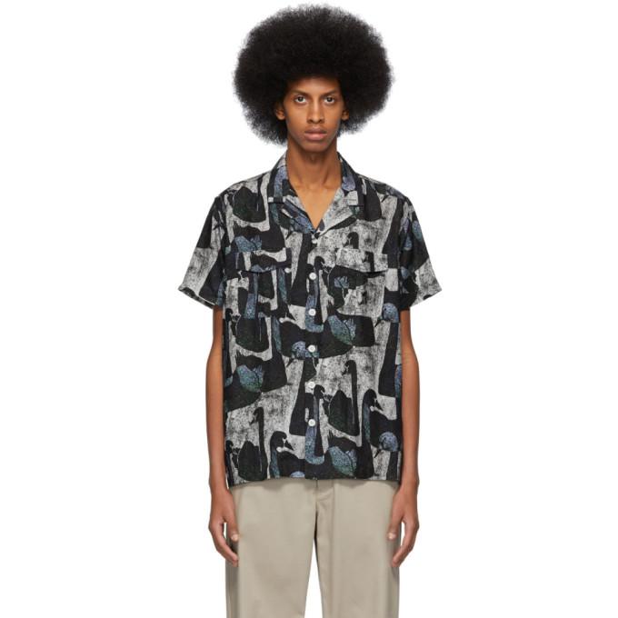 Image of Schnayderman's Black Notched Swan Shirt