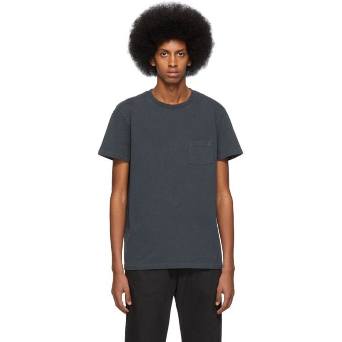 Image of Schnayderman's Black Jersey Garment-Dyed T-Shirt