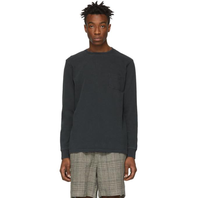 Image of Schnayderman's Black Dyed Long Sleeve T-Shirt