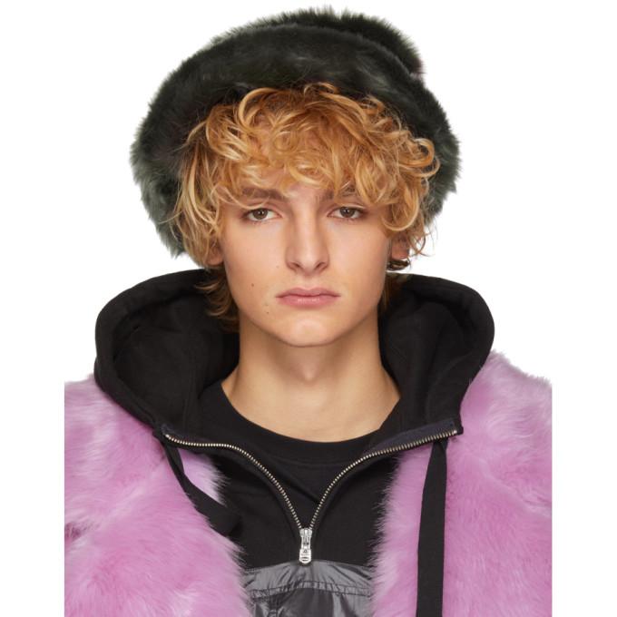 LANDLORD Landlord Grey Faux-Fur Bucket Hat