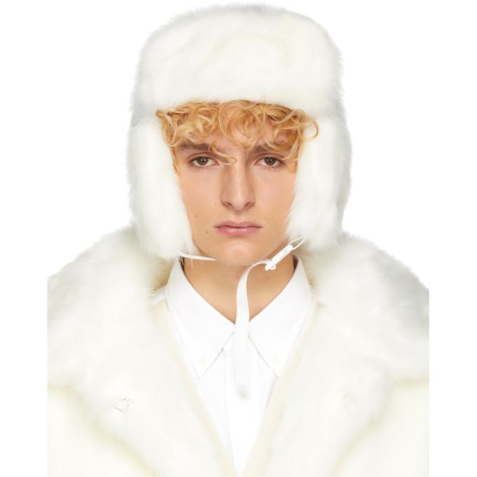 LANDLORD Landlord White Faux-Fur Trapper Hat