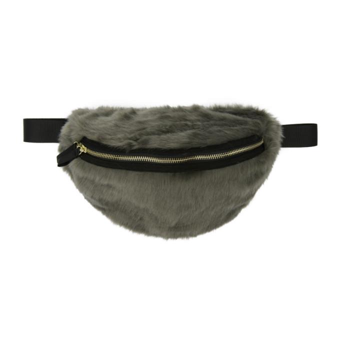 LANDLORD Landlord Grey Faux-Fur Belt Pouch