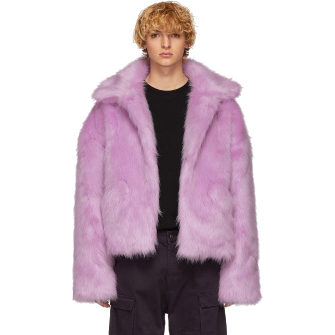 LANDLORD Landlord Purple Faux-Fur Capsule Jacket