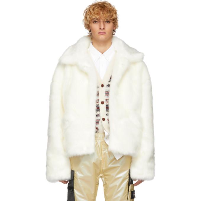 LANDLORD Landlord White Faux-Fur Capsule Jacket