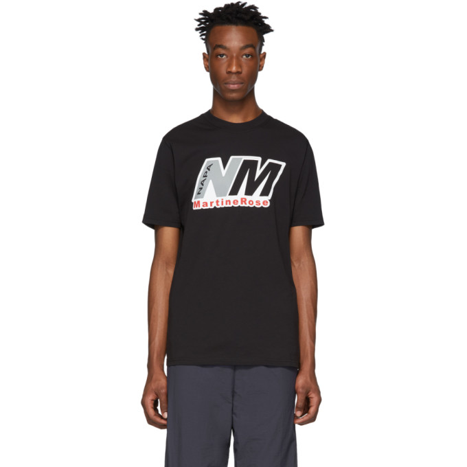 Napa By Martine Rose T-shirts NAPA BY MARTINE ROSE BLACK S-CENIS T-SHIRT