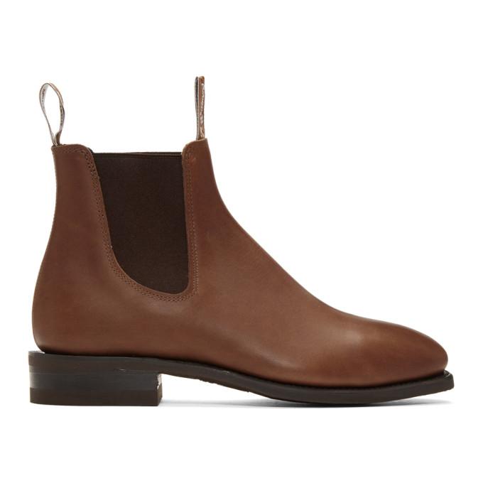 R.M. Williams Bottes chelsea brunes Comfort Craftsman