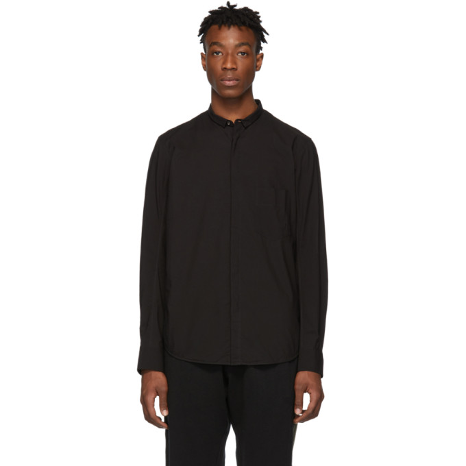 Ziggy Chen Chemise en coton noire
