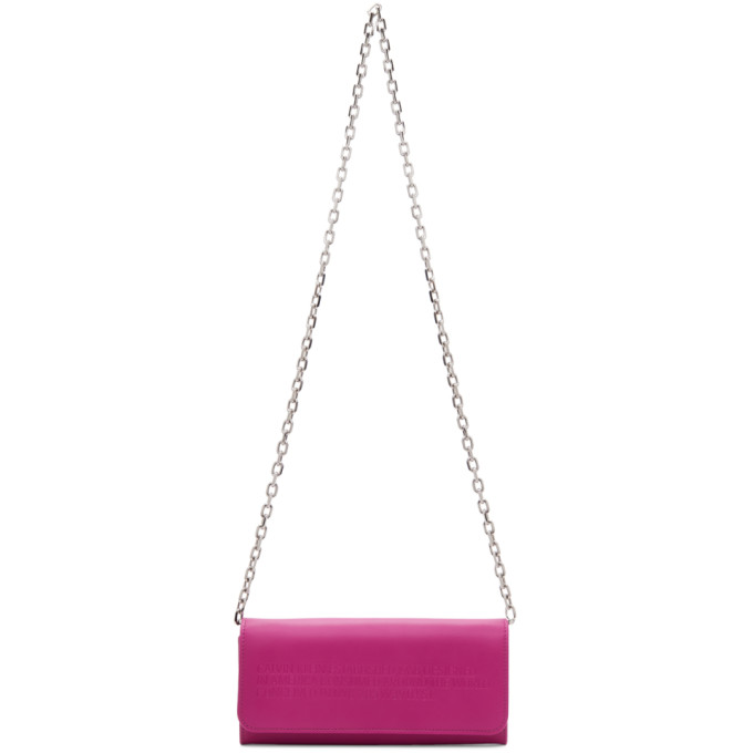 Calvin Klein 205W39NYC Pink Chain Wallet Bag