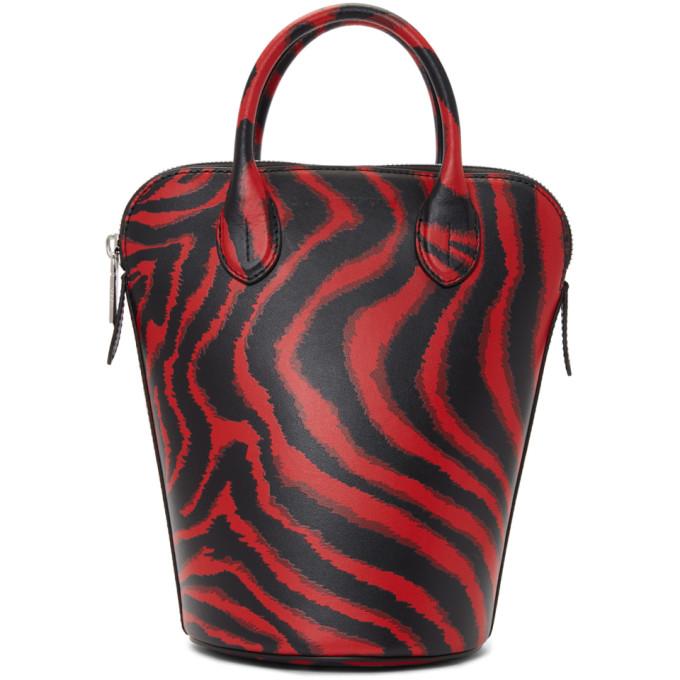 Image of Calvin Klein 205W39NYC Red Zebra Mini Dalton Bucket Bag