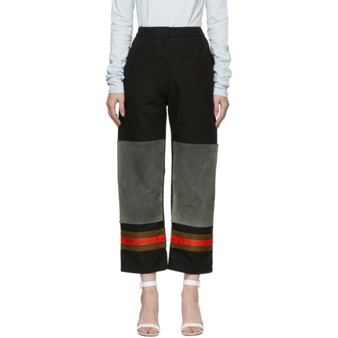 Image of Calvin Klein 205W39NYC Black & Grey Worker Trousers