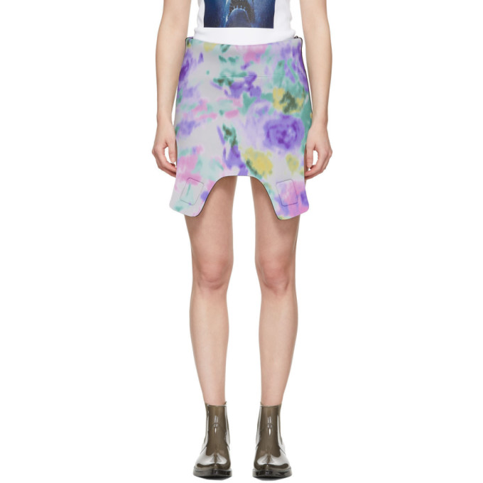 Image of Calvin Klein 205W39NYC Black Neoprene Cut-Out Skirt