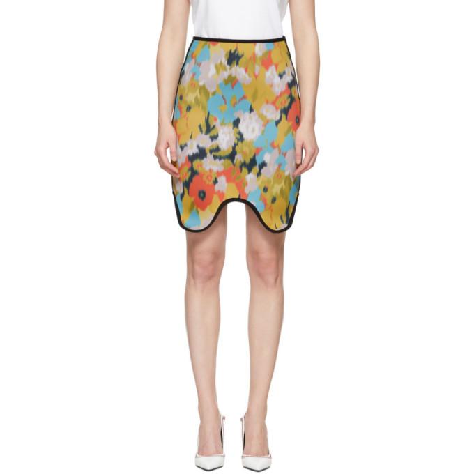 Image of Calvin Klein 205W39NYC Multicolor Neoprene Skirt