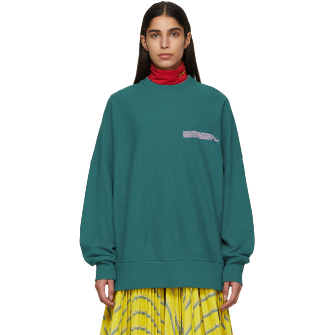 Image of Calvin Klein 205W39NYC Green Oversized Sweatshirt