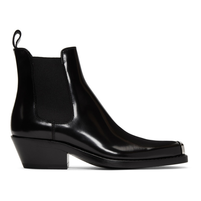 Image of Calvin Klein 205W39NYC Black Western Claire Boots