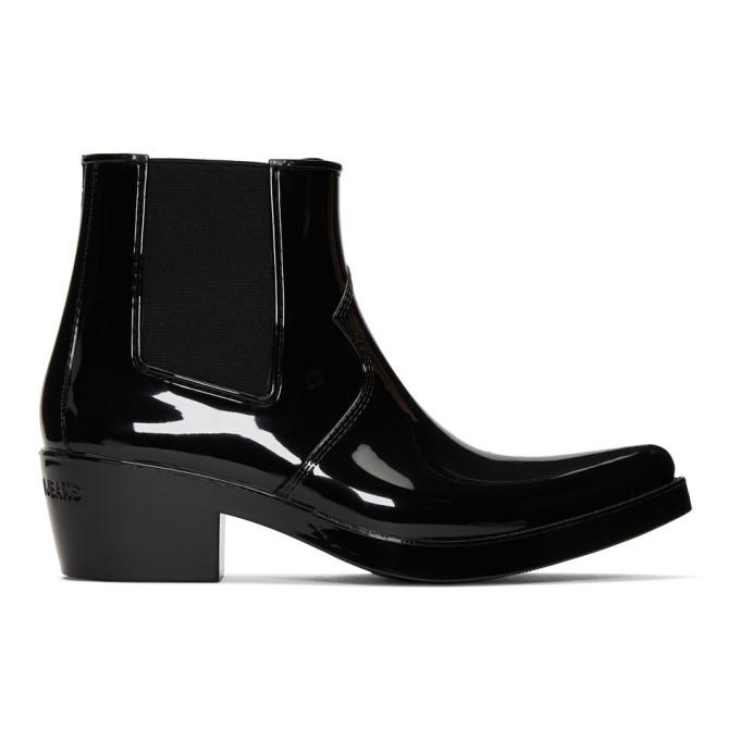 Image of Calvin Klein 205W39NYC Black Calvin Klein Jeans Edition Carol Rain Boots