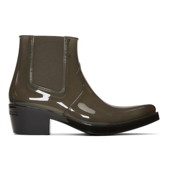Image of Calvin Klein 205W39NYC Grey Calvin Klein Jeans Edition Carol Rain Boots