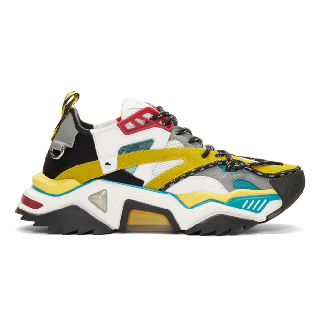 Calvin Klein 205W39NYC Blue & Yellow Strike 205 Sneakers