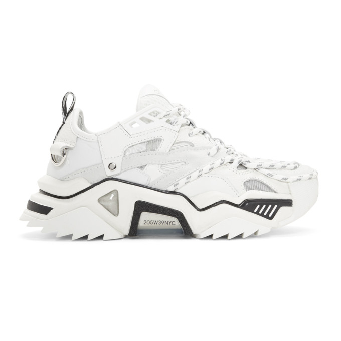 Calvin Klein 205W39NYC White Strike 205 Sneakers
